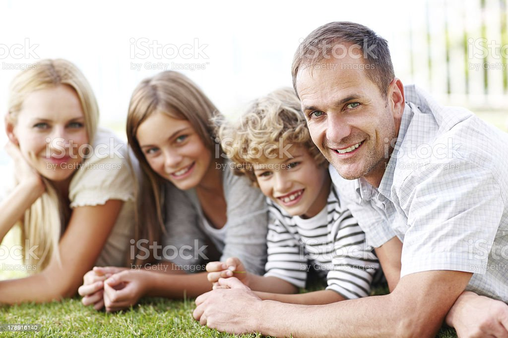 They're a family that loves the outdoors royalty-free stock photo