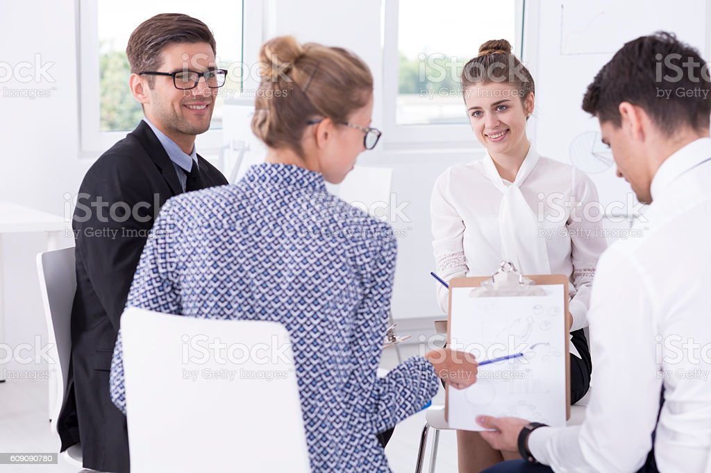 They're a good team stock photo