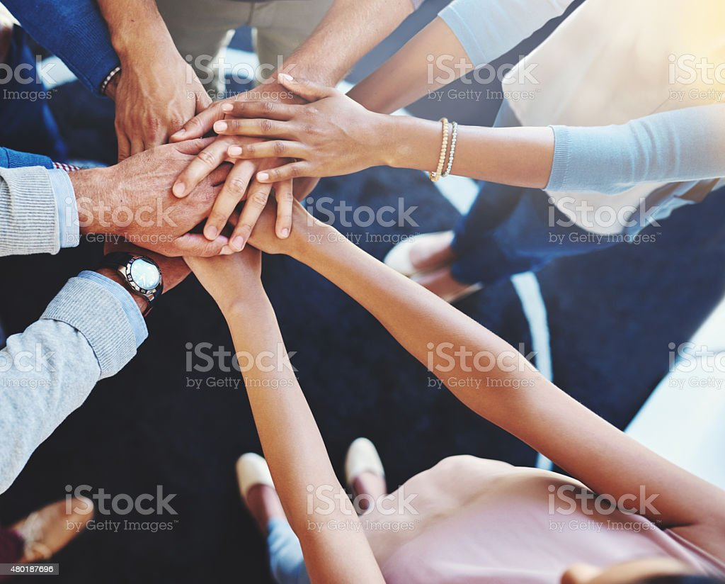 They're a united business team stock photo