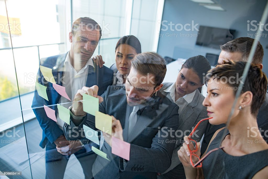 They're all about innovation and new business ideas stock photo
