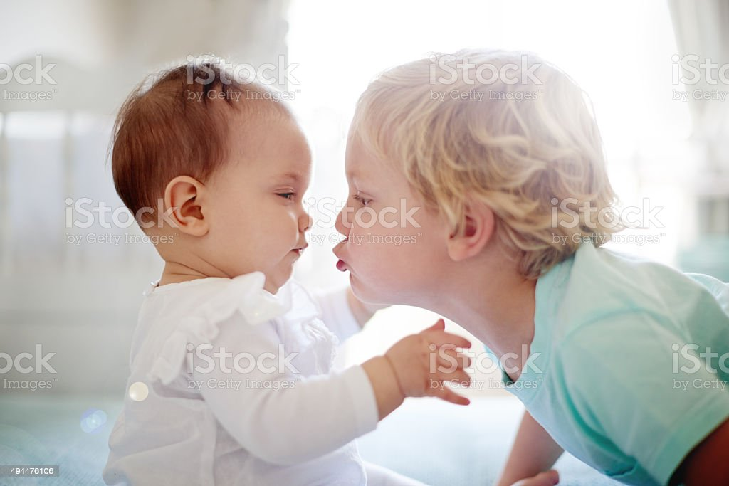 They're already the closest of friends stock photo