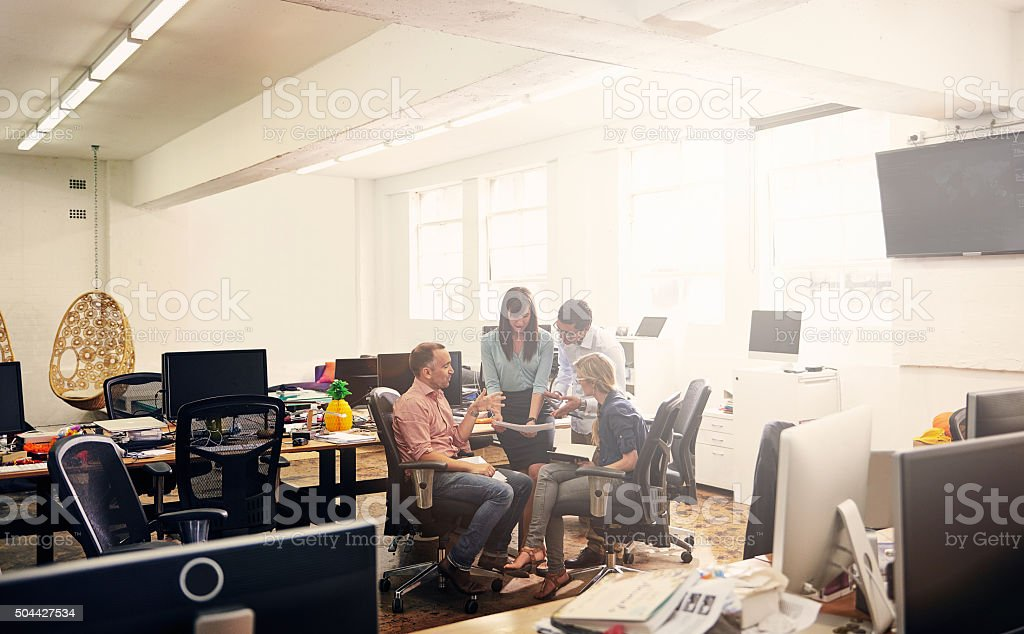 They're always the last in the office stock photo