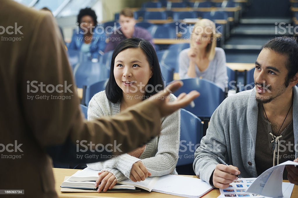 They're being inspired to do great things... stock photo