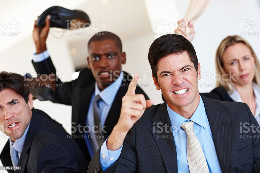 They're brutal when it comes to business stock photo