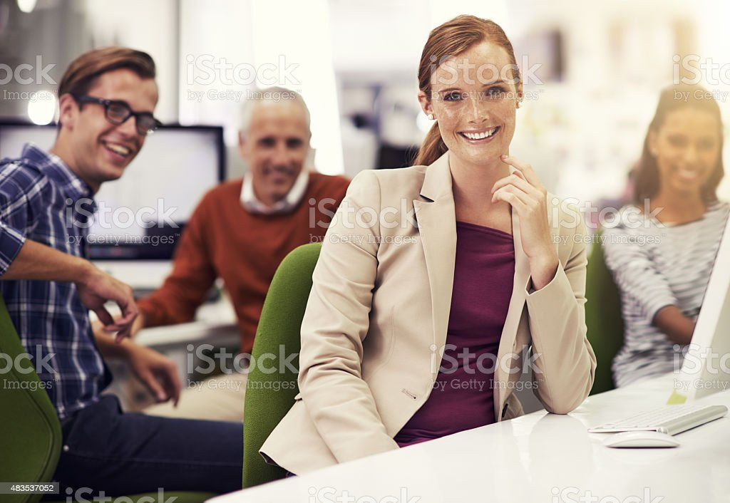 They're capable and successful! stock photo