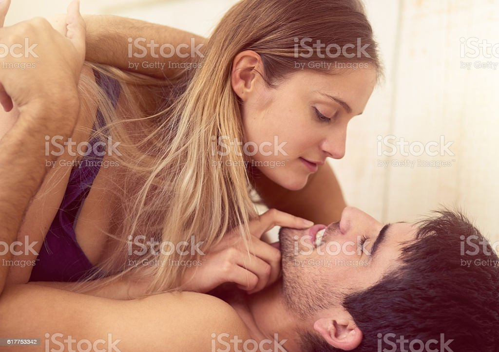They're completely comfortable with each other stock photo