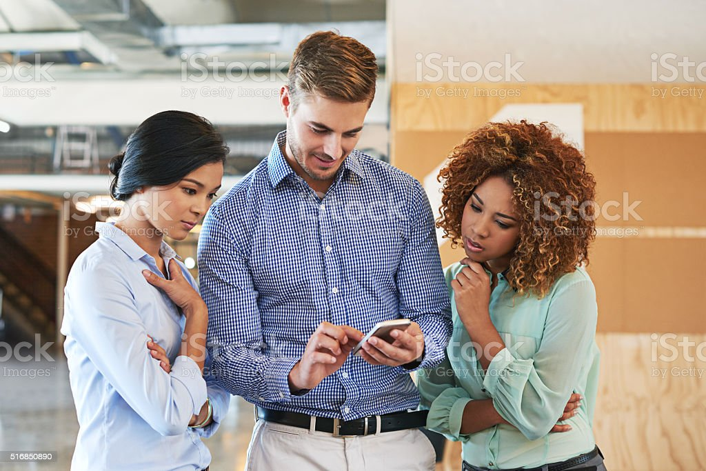 They're connected colleagues stock photo