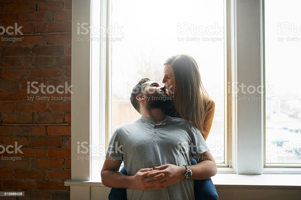 They're crazy about each other stock photo