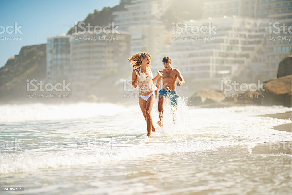 They're crazy in love stock photo