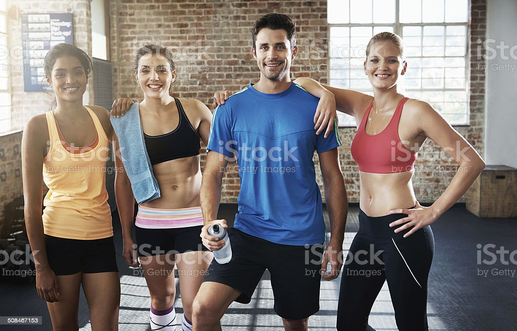 They're dedicated to fitness stock photo