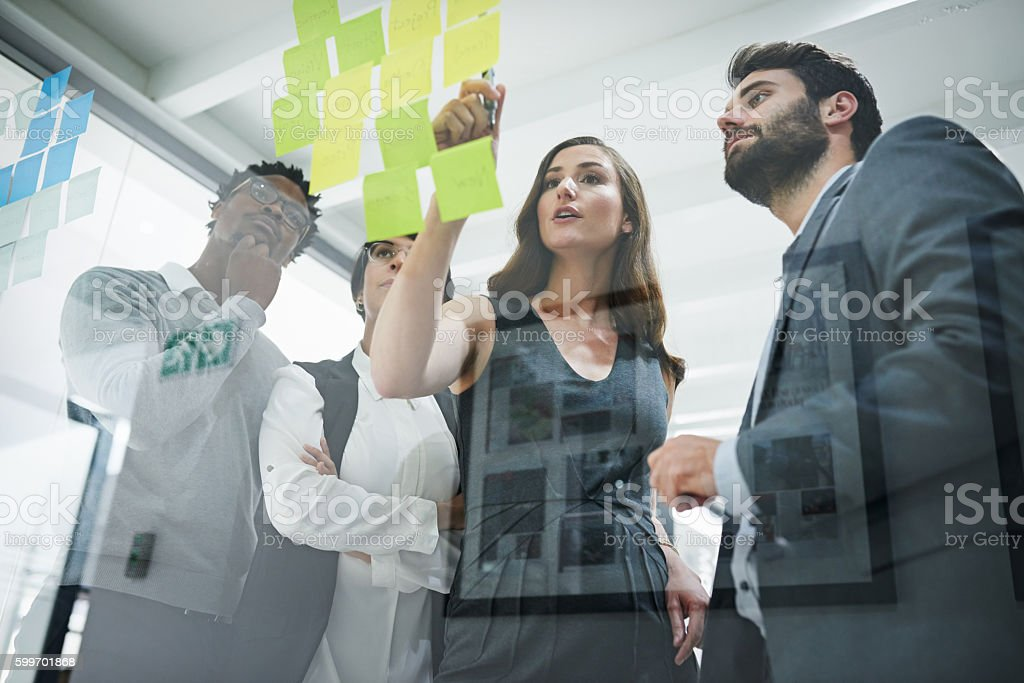 They're determined to developing only the best ideas stock photo