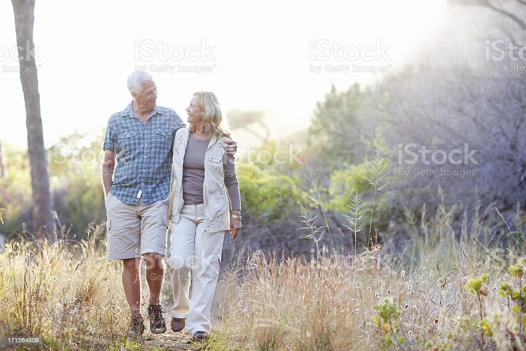 They're enjoying the free time retirement brings stock photo