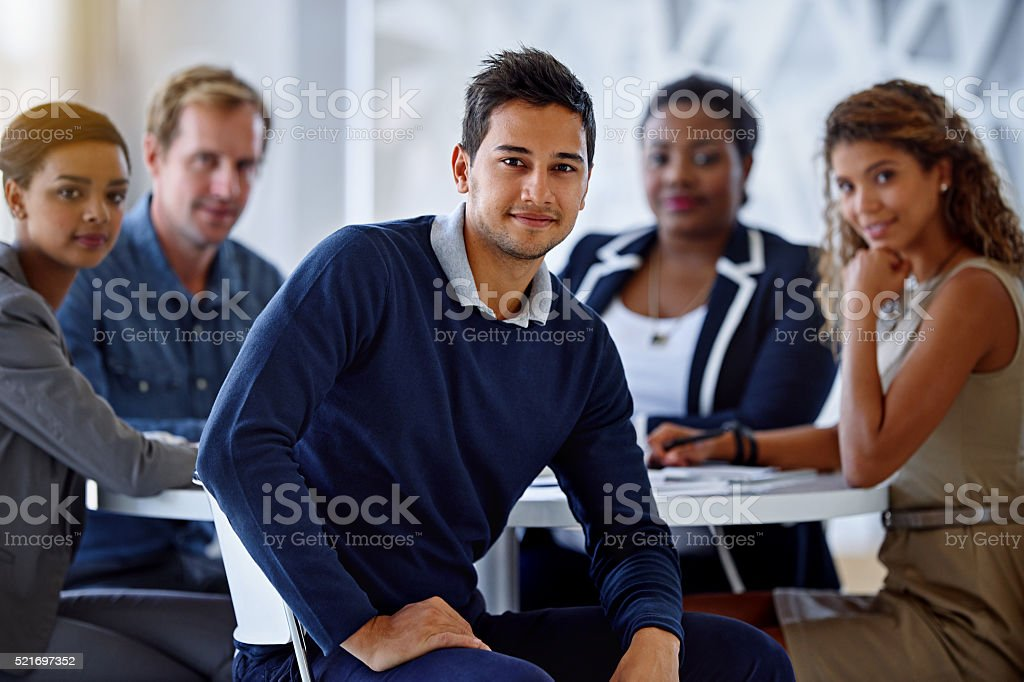 They're focused and ready for anything! stock photo