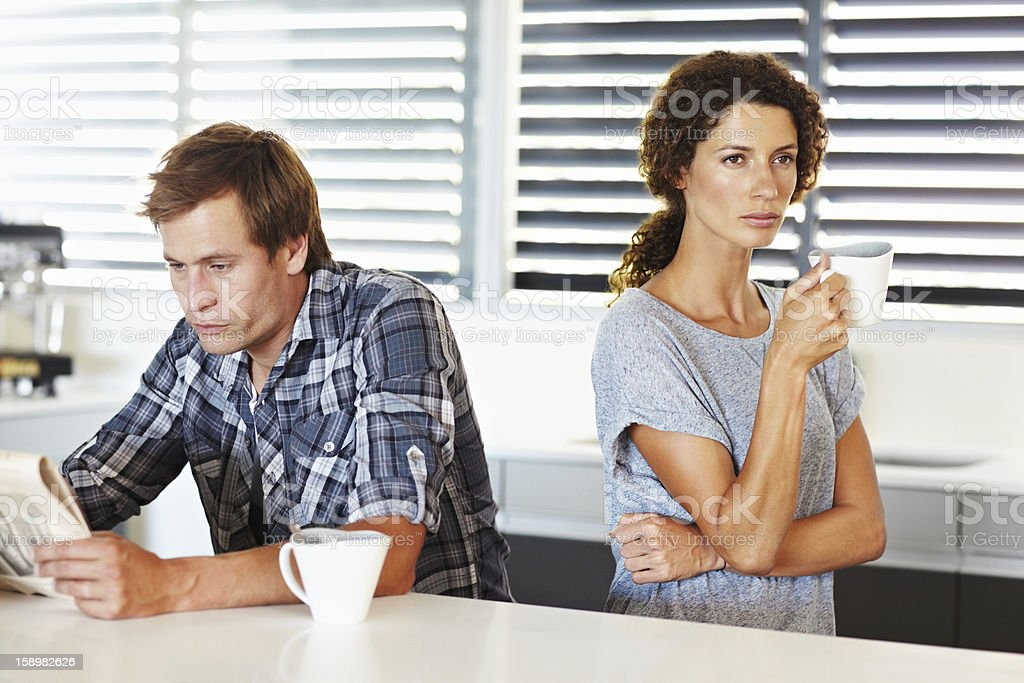 They're having communication problems royalty-free stock photo