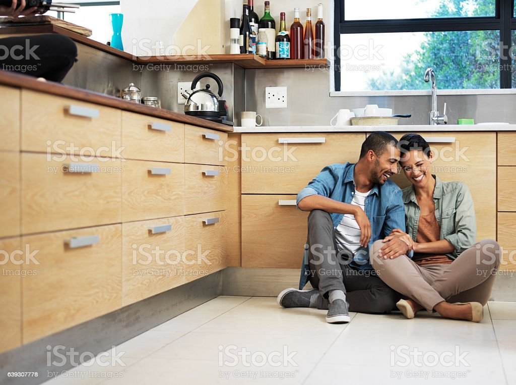 They're home is filled with love and laughter stock photo