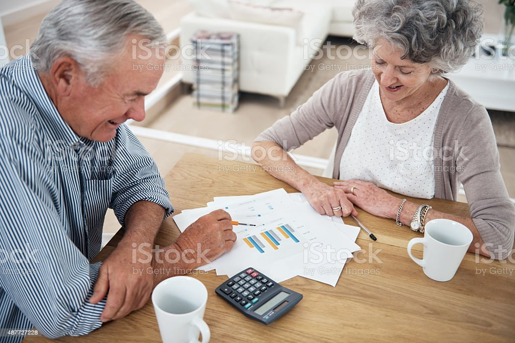 They're in a very good financial position stock photo