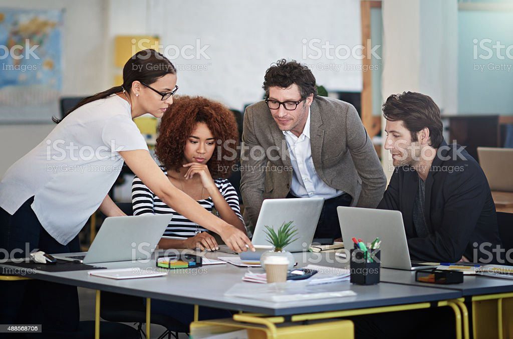 They're innovators in the biz stock photo