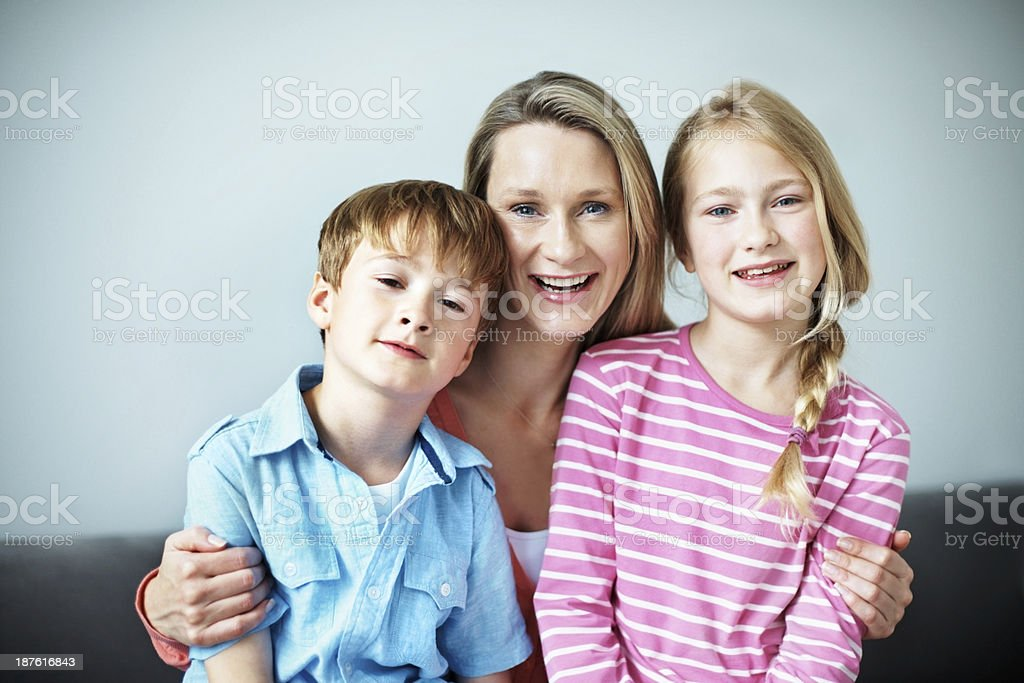 They're my greatest blessing! royalty-free stock photo