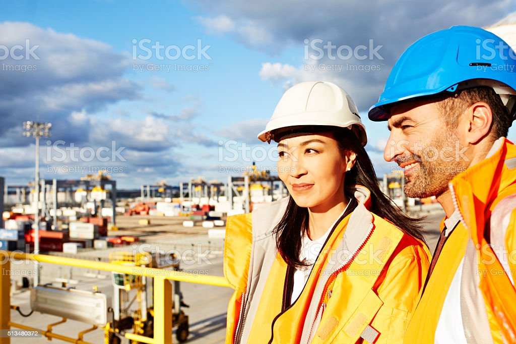 They're on dock duty stock photo