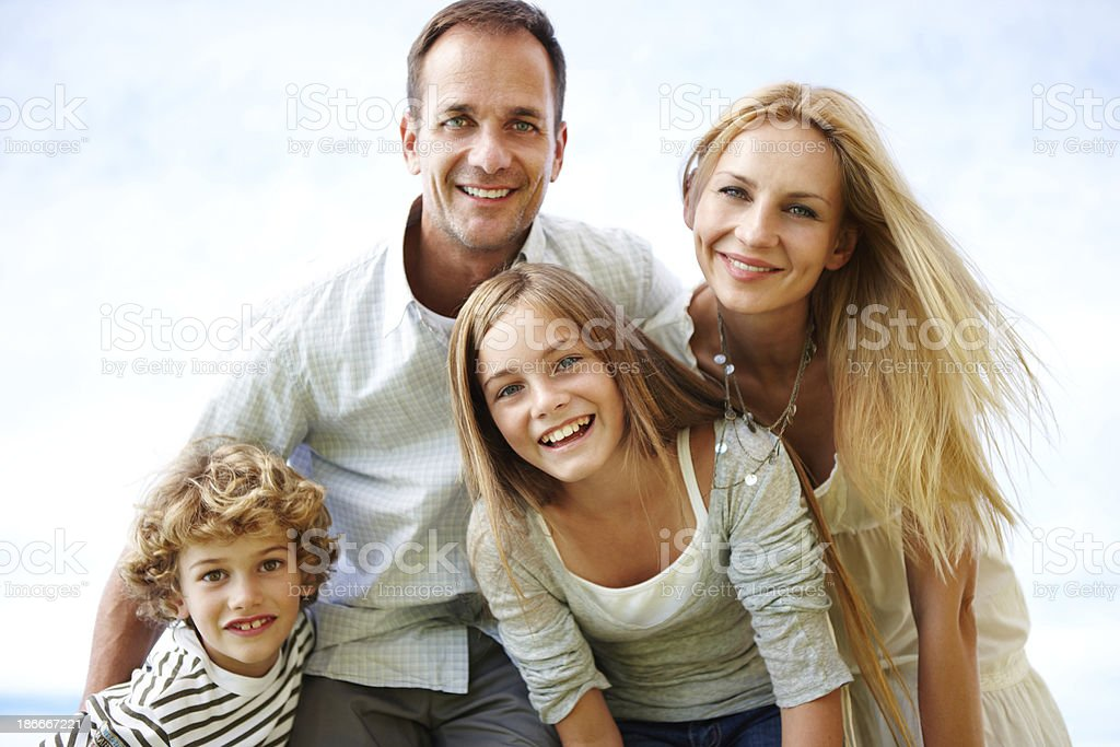They're one happy family royalty-free stock photo