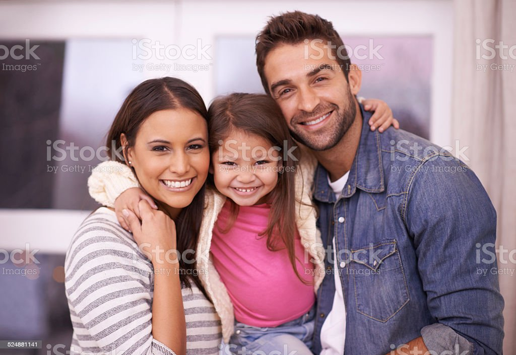 They're one happy family stock photo