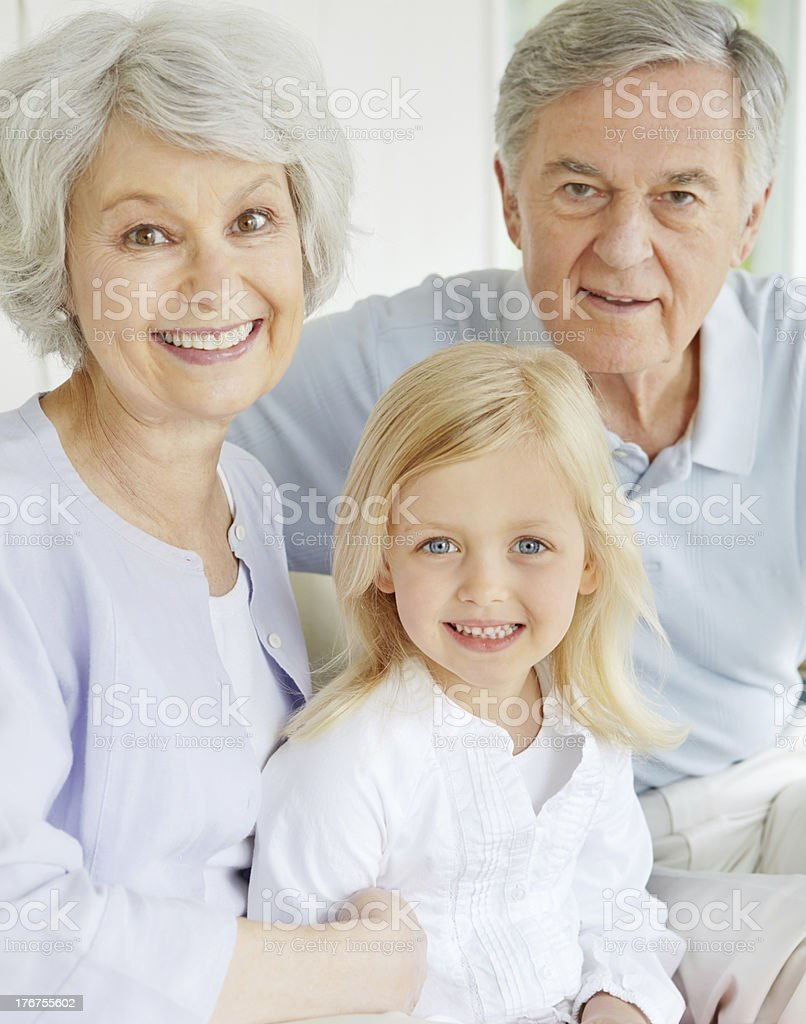 They're so proud of their granddaughter royalty-free stock photo