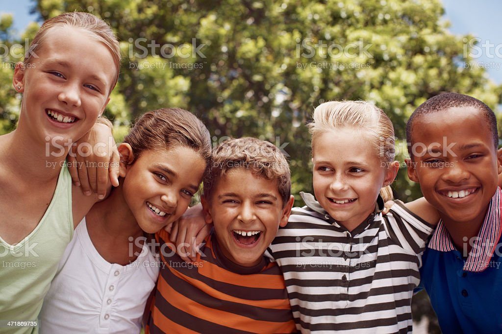 They're such good friends royalty-free stock photo