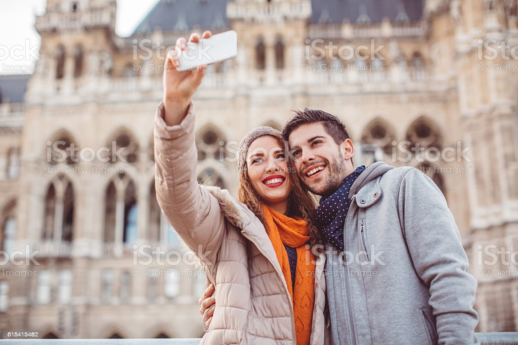 They're the sweetest couple ever! stock photo