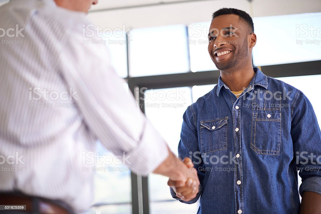 They've come to an agreement stock photo