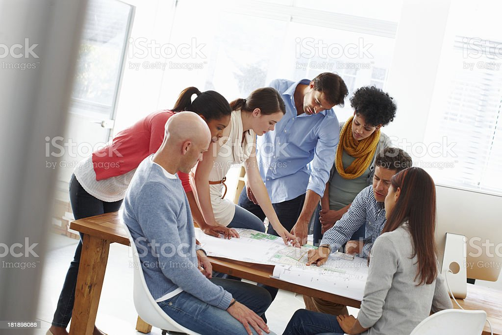 They've got big plans royalty-free stock photo