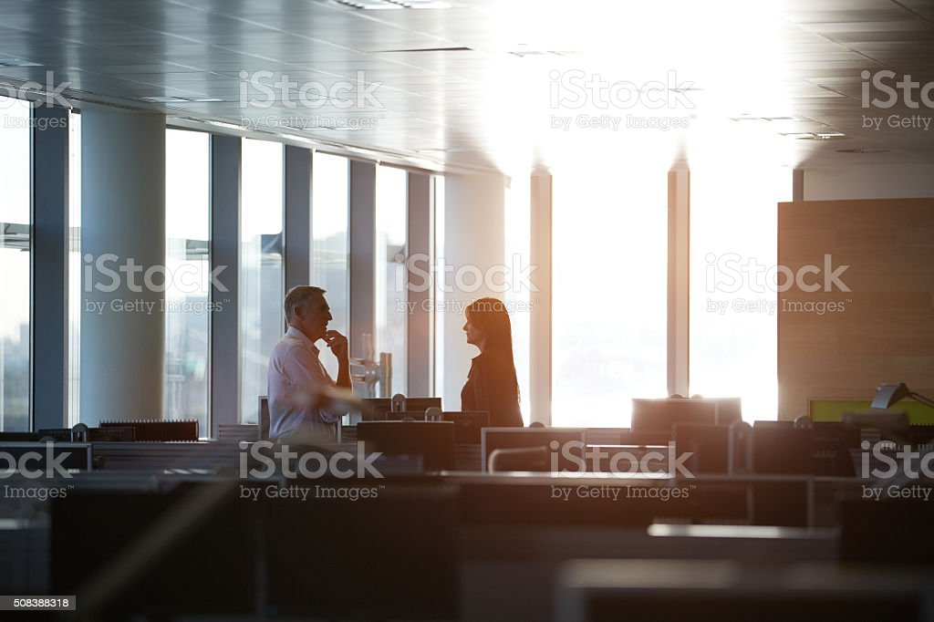 They've got business on the brain stock photo