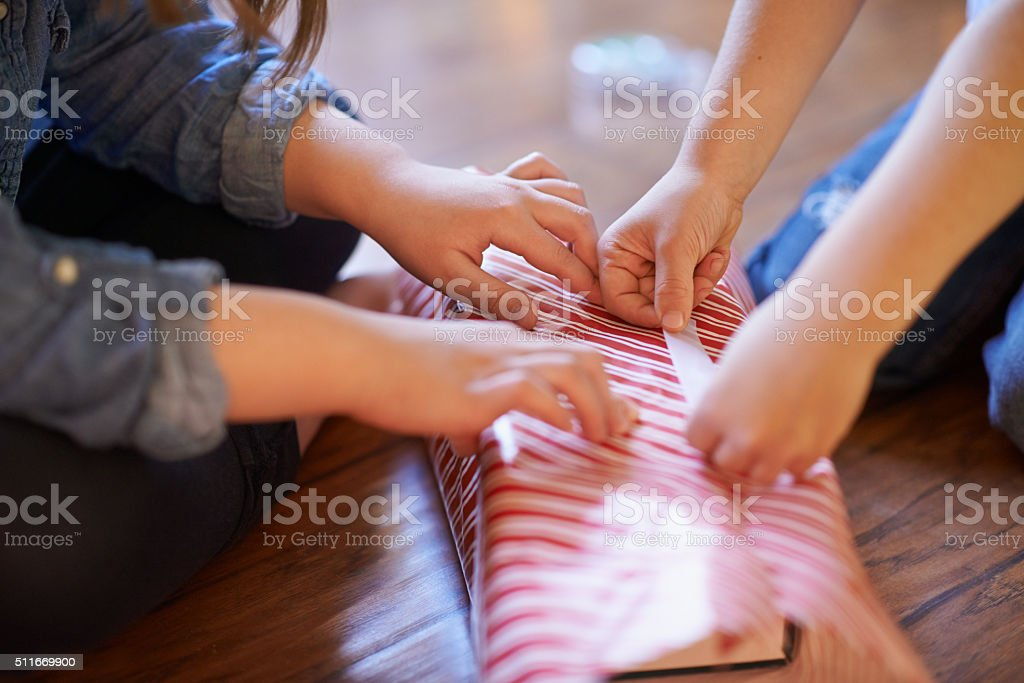 They've got Christmas all wrapped up stock photo