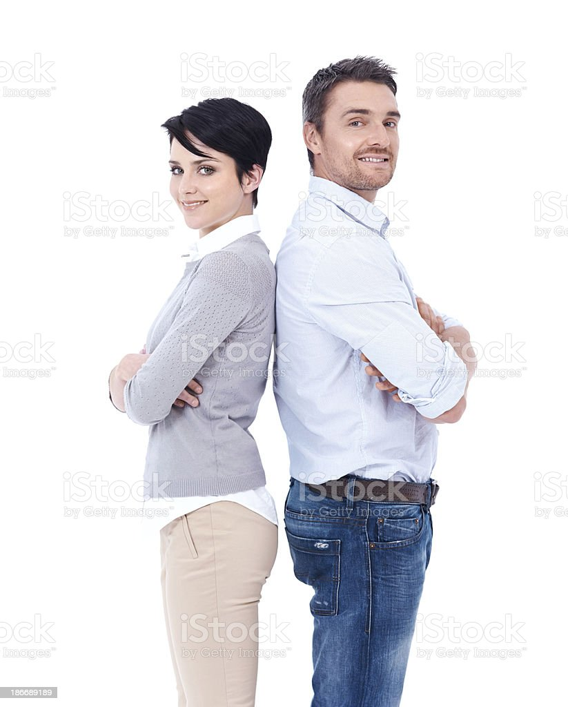 They've got each other's back royalty-free stock photo