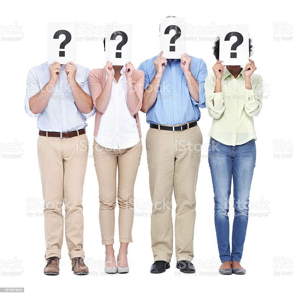 They've got questions royalty-free stock photo