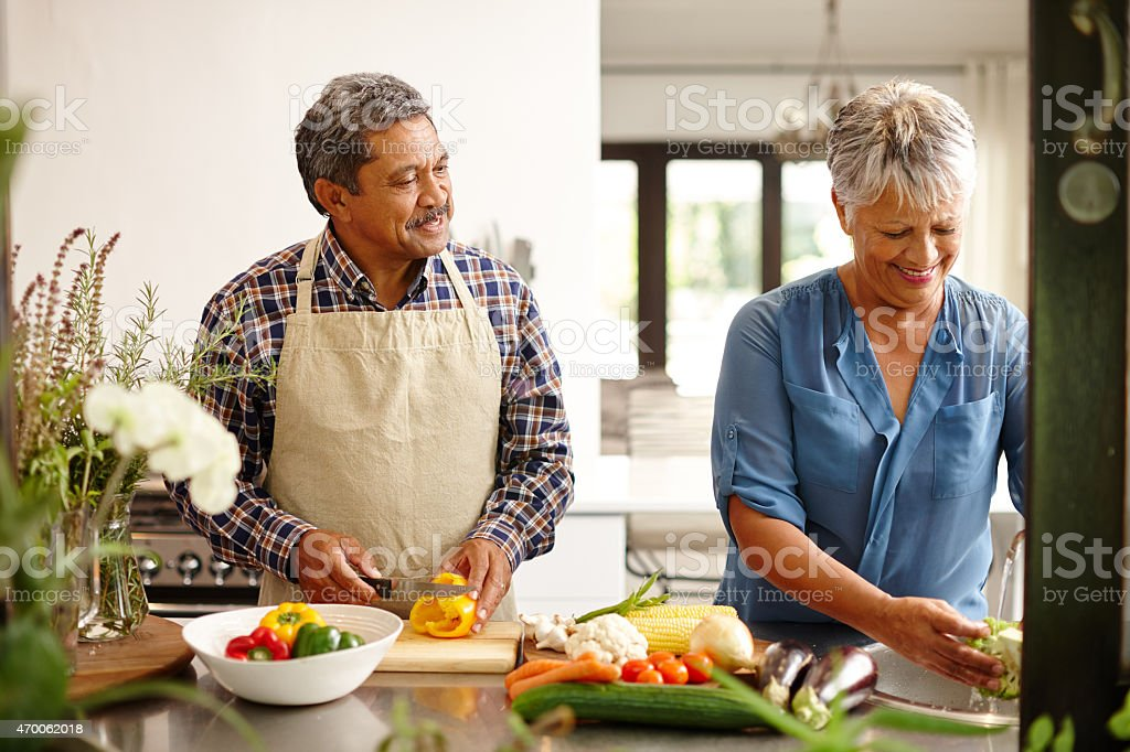 They've got the perfect recipe for love stock photo