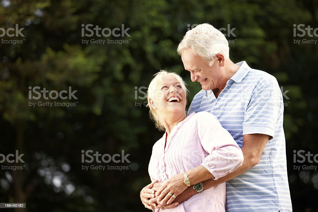 They've lived, learned and laughed together - True Love royalty-free stock photo