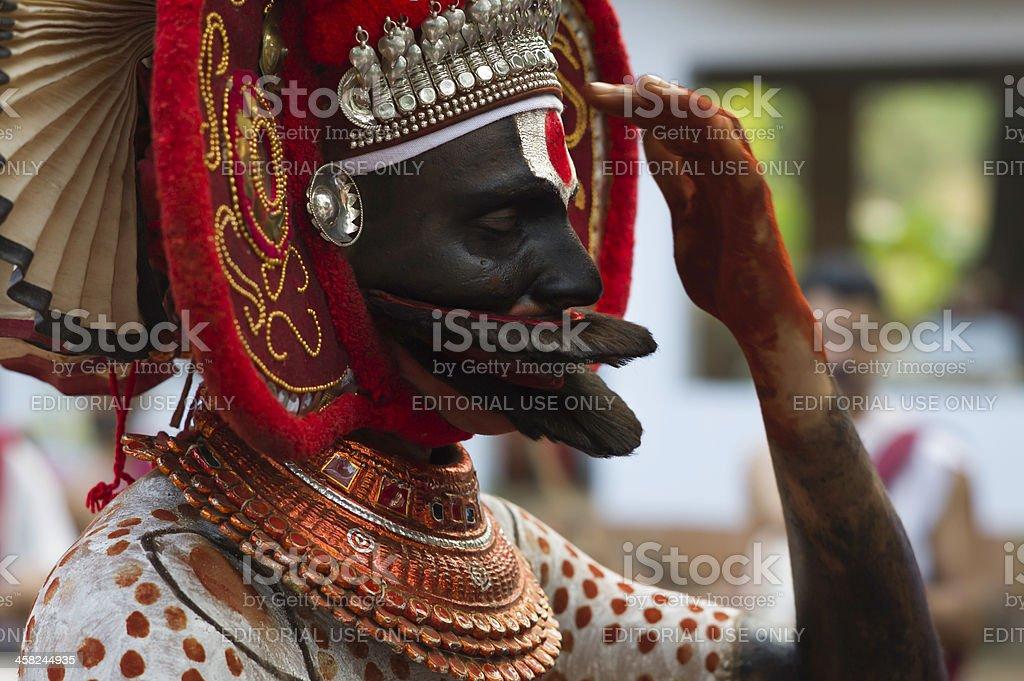 Theyyam performer, Kannur, Kerala, India. royalty-free stock photo