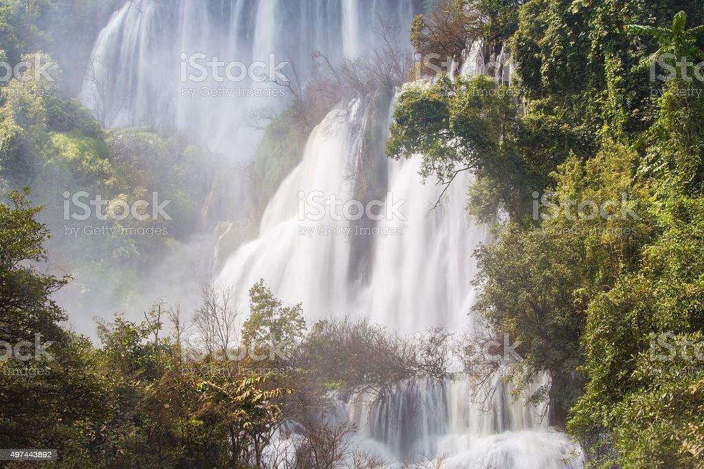 Thi Lo Su Waterfall stock photo