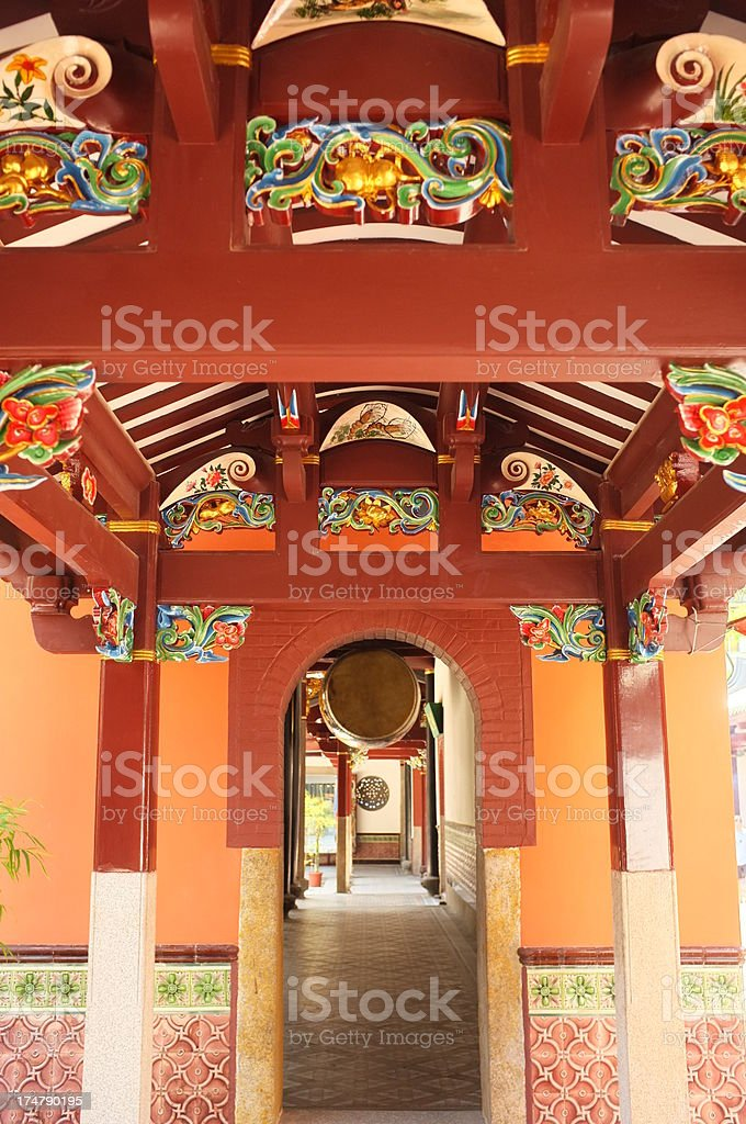 Thian Hock Keng Temple in Singapore stock photo