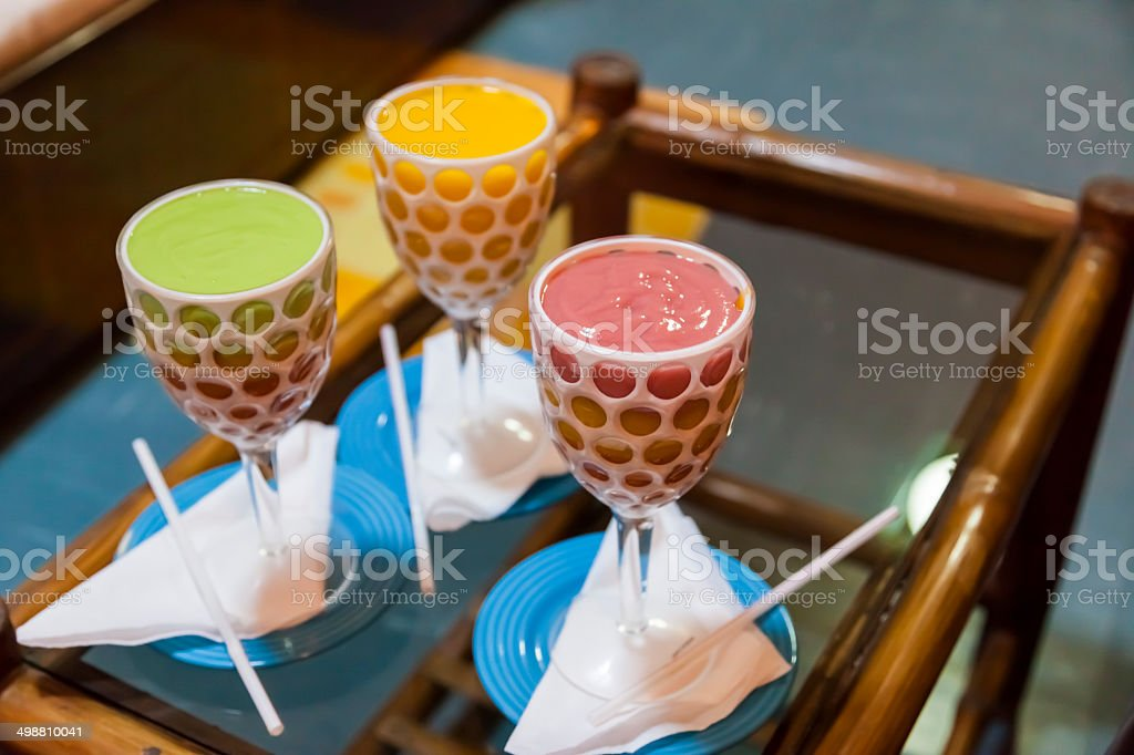 Thick and creamy multilayered juice is an Ethiopian prime drink. royalty-free stock photo
