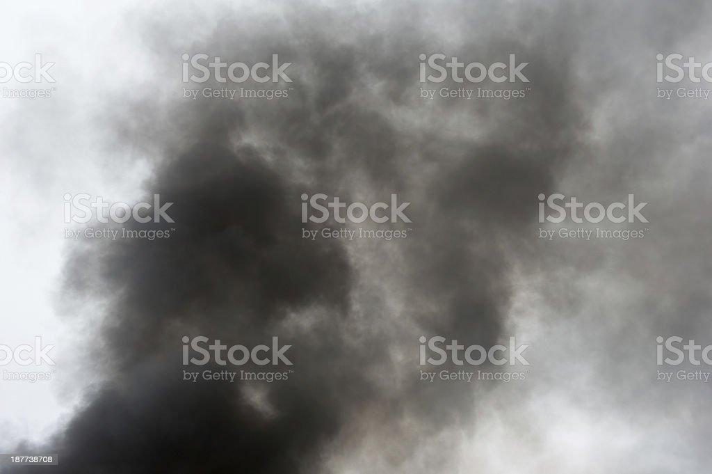 Thick Black Smoke royalty-free stock photo