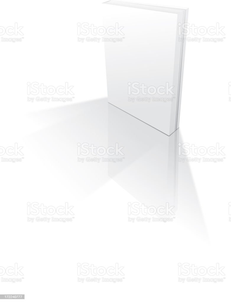 Thick, blank paperback book stock photo