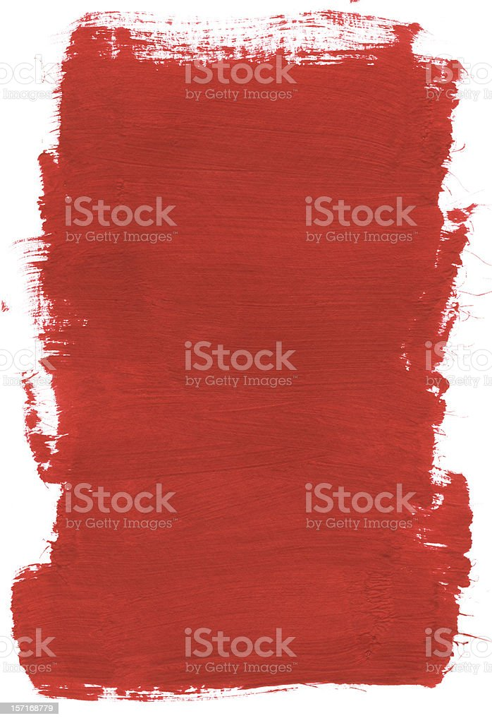 Thick Block of Brick Red Paint royalty-free stock photo