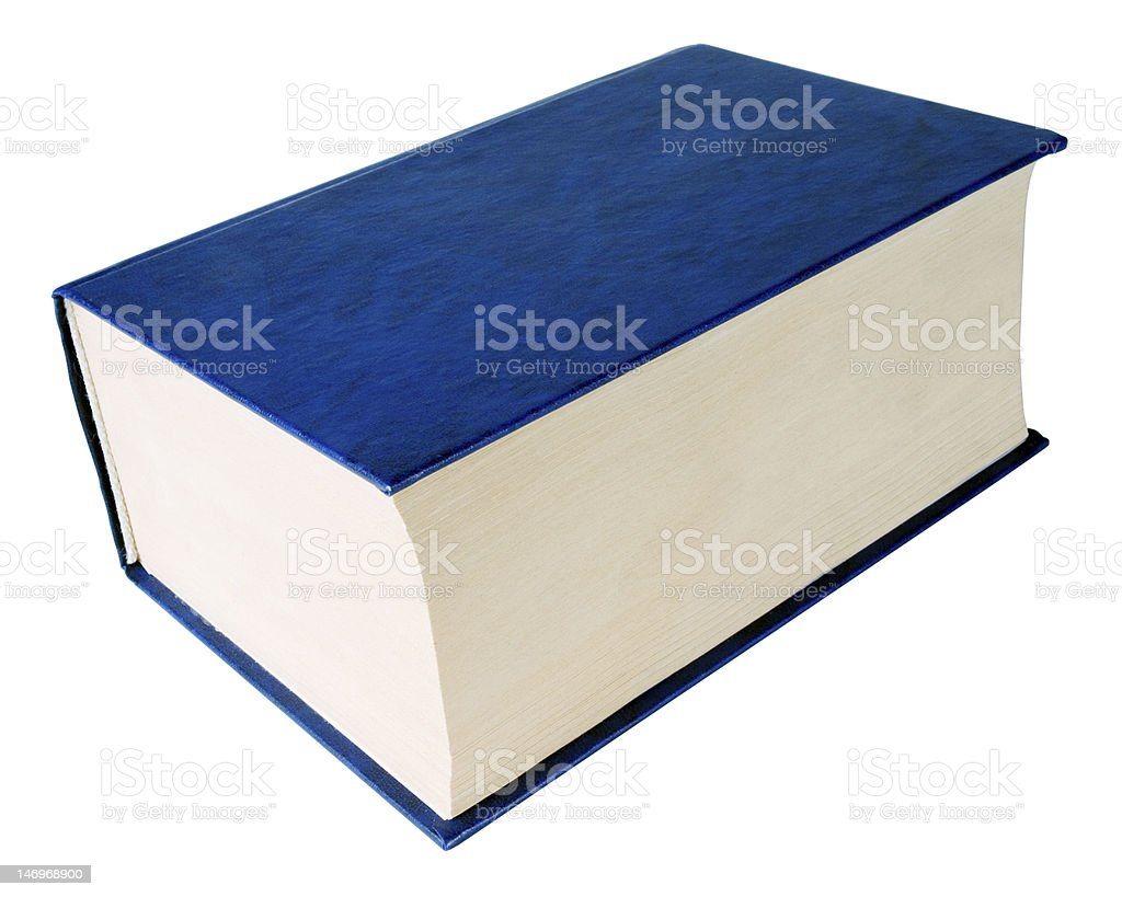 Thick book. stock photo