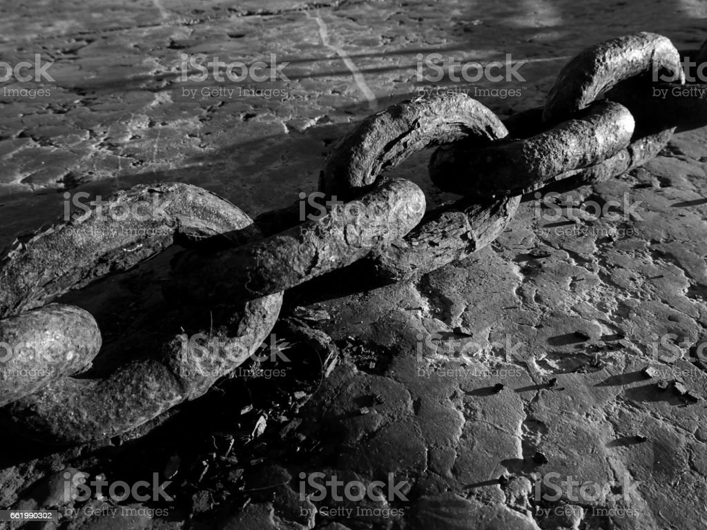 Thick Chain Links stock photo