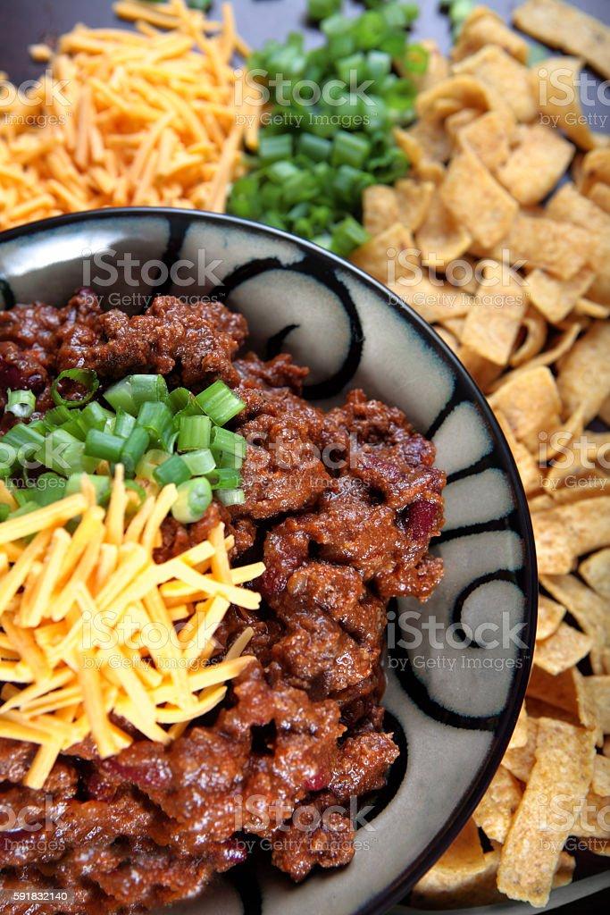 Thick chili con carne  - Vertical stock photo