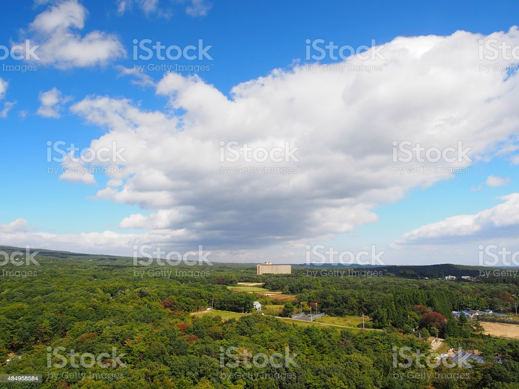 Thick Cloud Passing through the Overhead stock photo