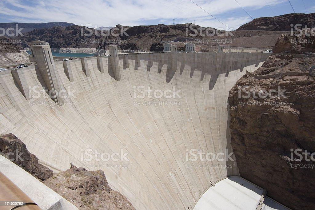 thick concrete dam stock photo