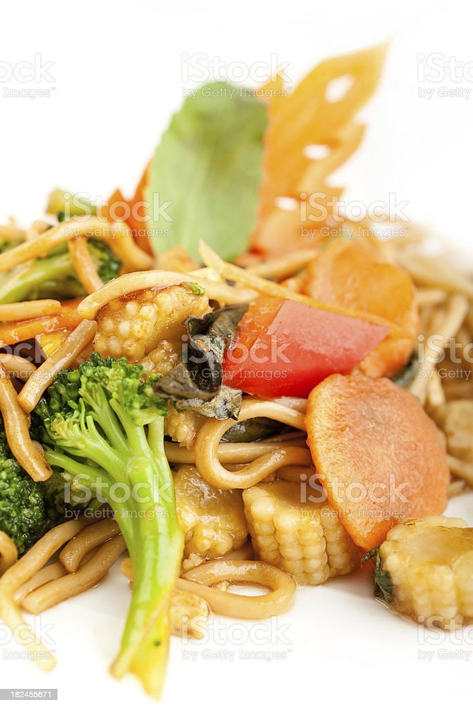 Thick egg noodles royalty-free stock photo