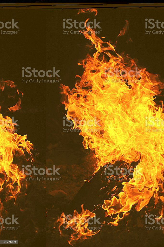 thick flame royalty-free stock photo